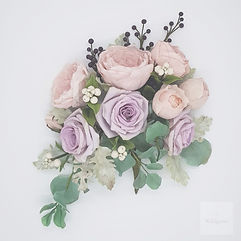 Wedding bouquet-lilac and blush pink