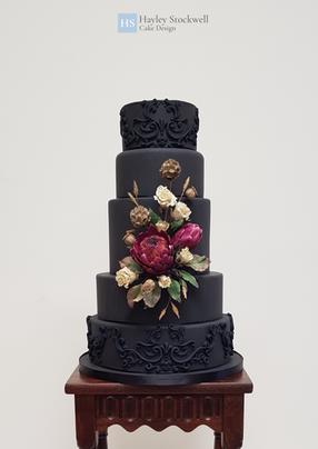 _Dried_ sugar flower wedding cake