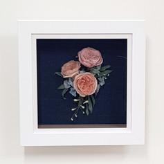 Framed wedding flower recreation