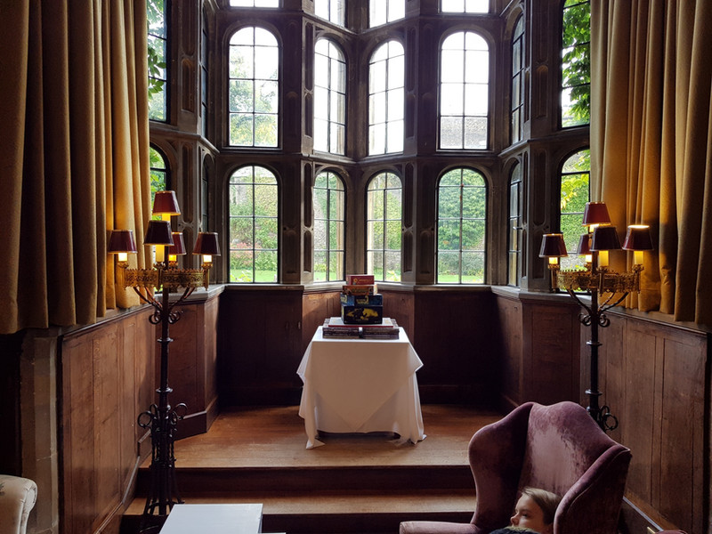 Boards games cake in beautiful castle setting