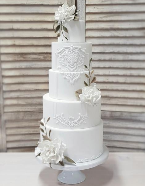 White baroque wedding