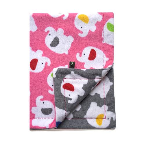 Pink Elephant Baby Blanket