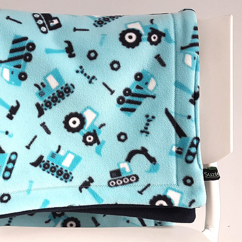 Tractors and Diggers Baby Blanket