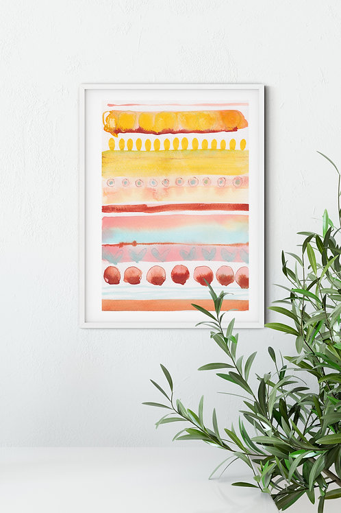 Beach Vibes Original Watercolour Painting by Suzie Cumming
