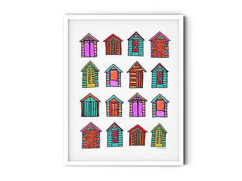 Beach Hut Print