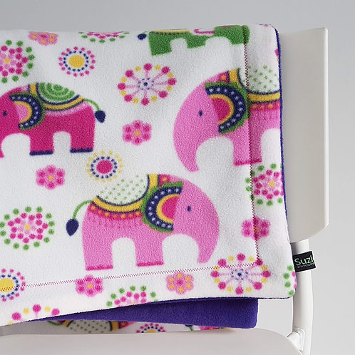 Elephants Fleece Baby Blanket