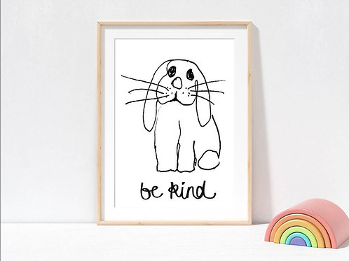 Rabbit print for nursery by suzielou