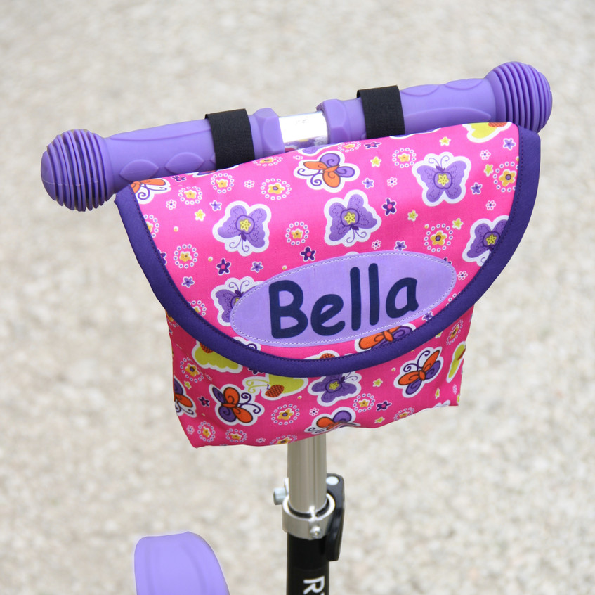 Pink Butterfly scooter bag for child