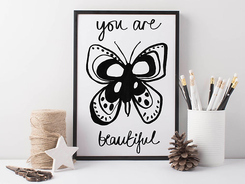 Butterfly art print for the home