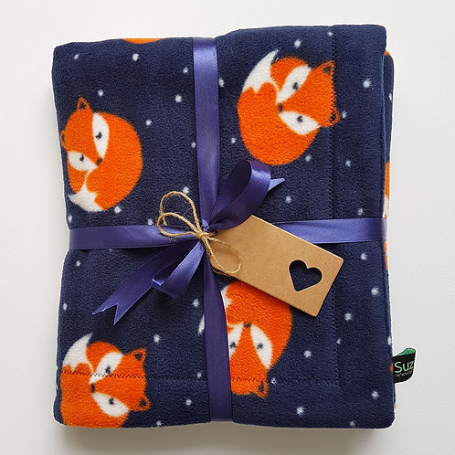 Fox Fleece Baby Blanket