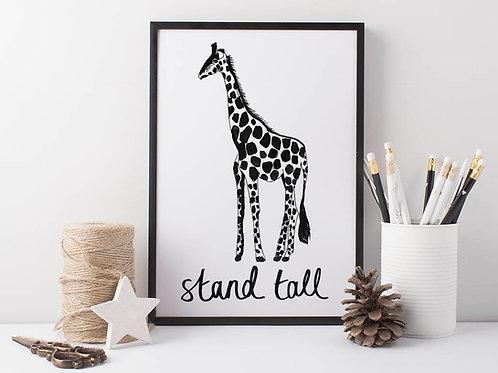 Giraffe Wall Art for children by suzielou