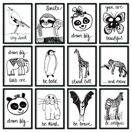 My new collection of Animal Wall Art is here!