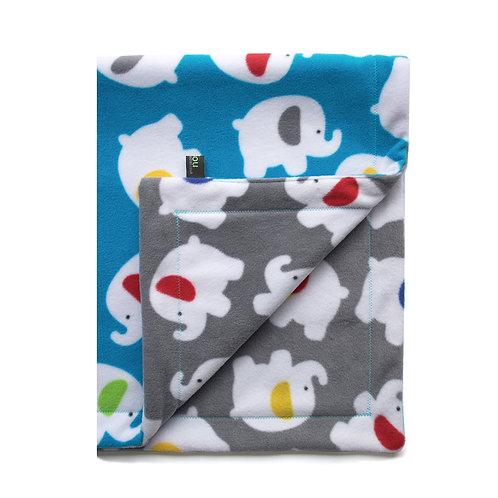 Blue Elephant Baby Blanket