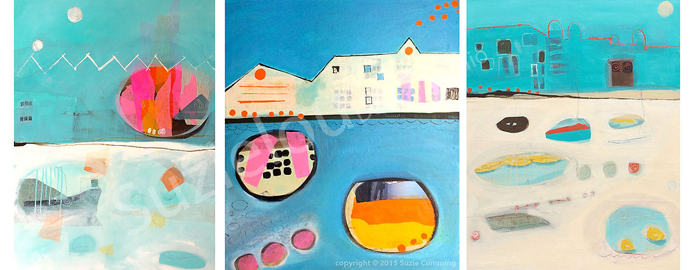 Suzielou abstract paintings