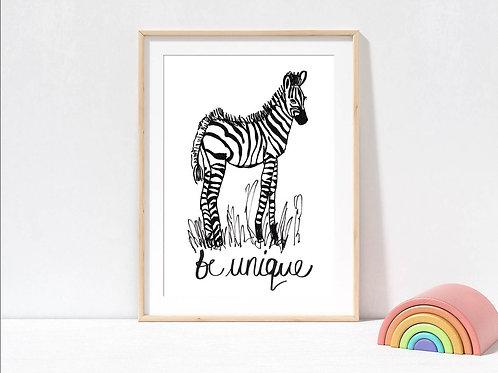 Zebra wall by suzielou
