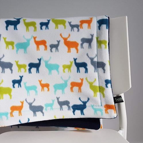 Deer Fleece Baby Blanket