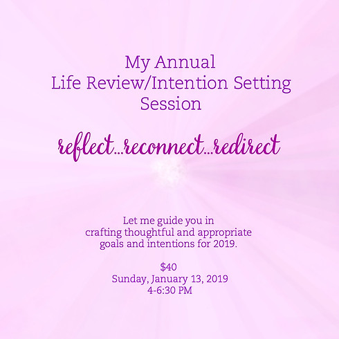 My Annual Life Review/Intention Setting