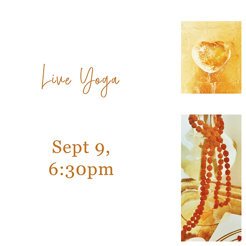 Live Yoga Thursday Night Sep 9 only. See other dates below-multiple date function does not work