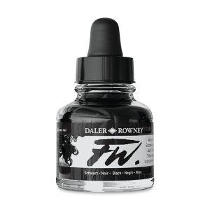 Black- Daler-Rowney FW Acrylic ink