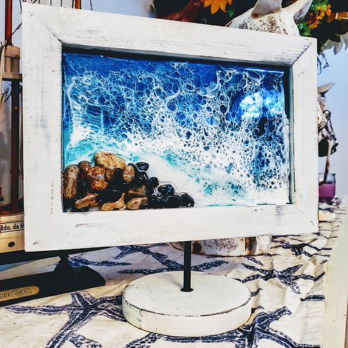 Framed Ocean with base