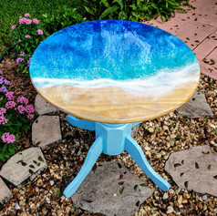 Mermaid Trash Ocean wave resin table top