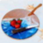 Mermaid Trash Ocean wave epoxy resin cutting board