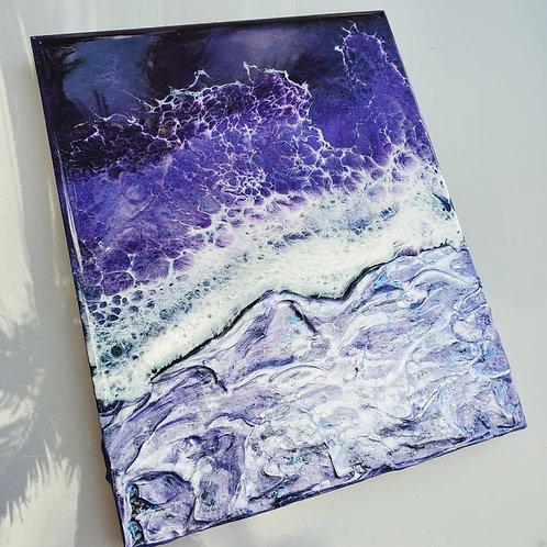 Icy purple Ocean 8x10