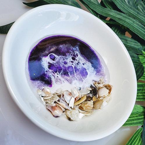 Round Ocean trinket tray
