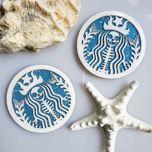 Starbucks Skeleton Mermaid Coaster