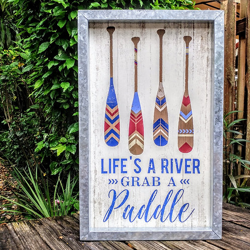 Tin wall art- Lifes a river