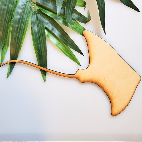 Stingray Unfinished MDF Laser Cutout