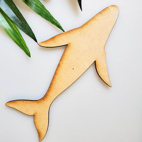 Pilot Whale Unfinished MDF Laser Cutout