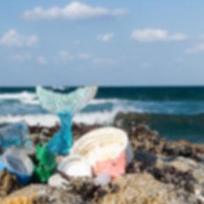 Mermaid Trash epoxy resin recycled plastic jewelry
