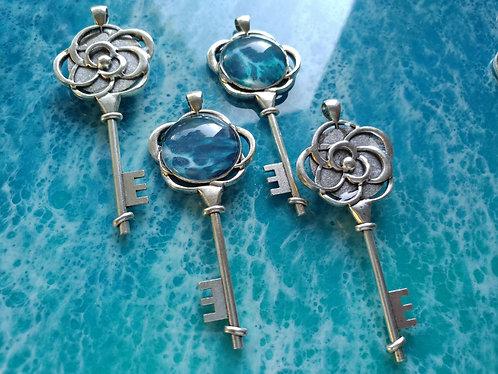 Celtic Key Ocean Necklace
