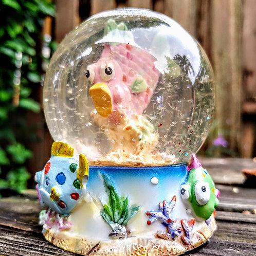 Fish snow globe