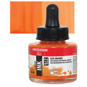 Azo Orange- Amsterdam Acrylic Ink