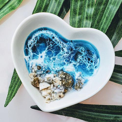 Heart Ocean trinket tray