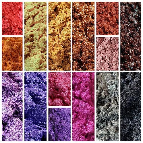 Rainbow Coral Mica Pigment Set of 15