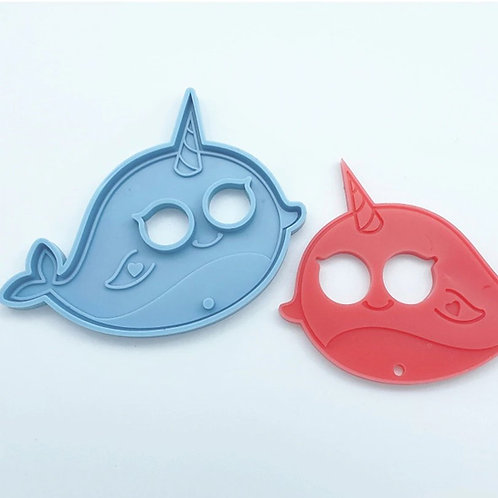 Narwhal Button Pusher/Safety Keychain Silicone Mold
