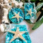 Mermaid Trash Ocean wave, starfish resin jewelry