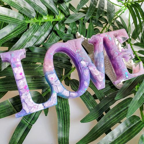 Love table top decor