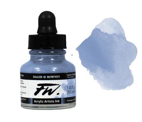 Shimmering Blue- Daler-Rowney FW Acrylic ink