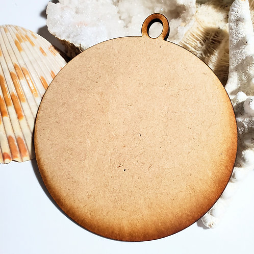 4 inch Round Ornament Unfinished MDF Laser Cutout