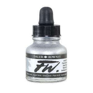Silver- Daler-Rowney FW Acrylic ink