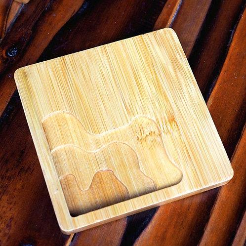 DIY Square Laser-Cut Coaster