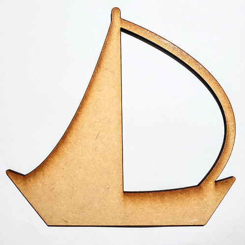 Sail Boat Unfinished MDF Laser Cutout