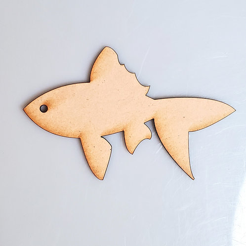 Goldfish Unfinished MDF Laser Cutout
