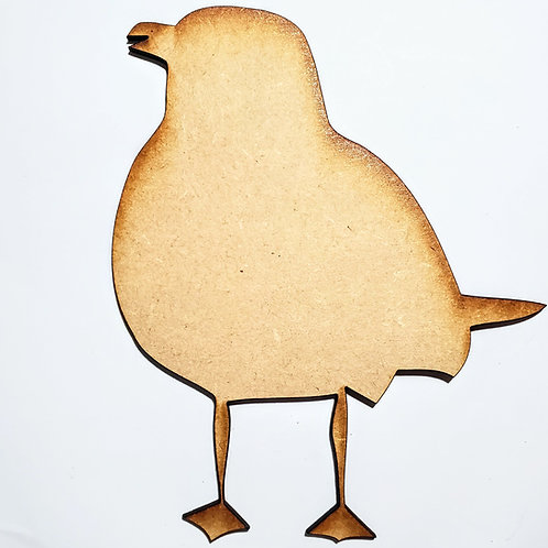 Seagull Unfinished MDF Laser Cutout