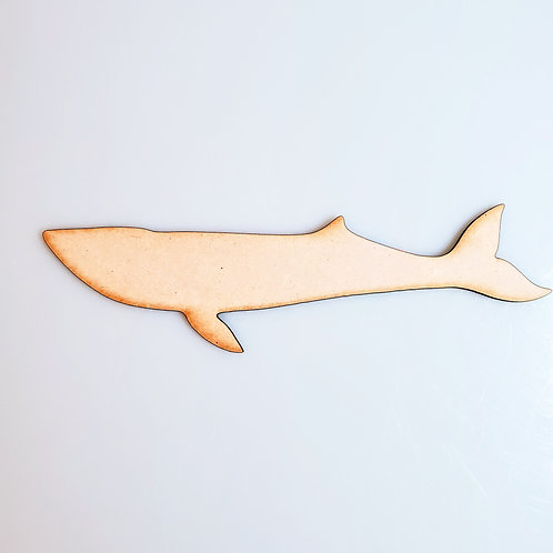 Blue Whale Unfinished MDF Laser Cutout