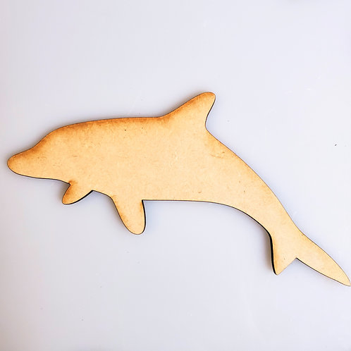 Dolphin Unfinished MDF Laser Cutout